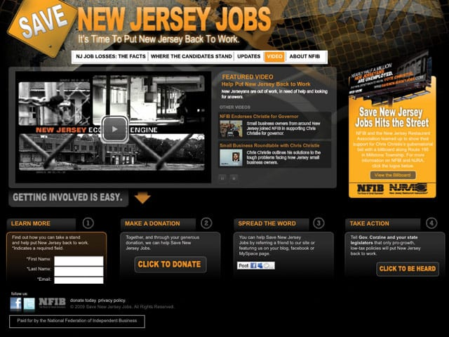 Save New Jersey Jobs – Advocacy Website