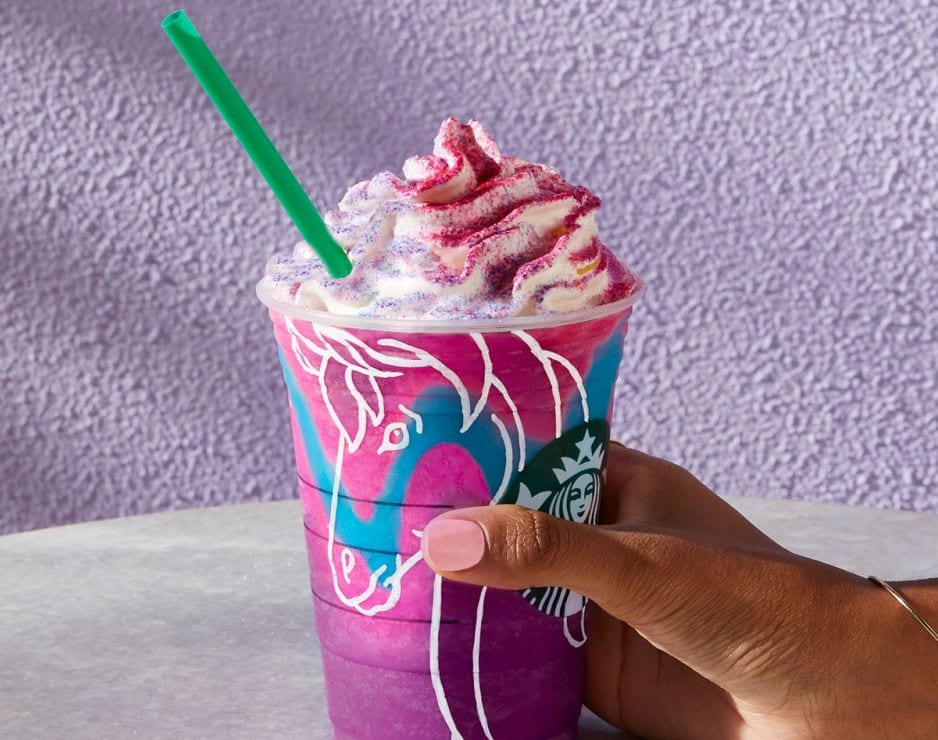 Starbuck's Unicorn Drink Spreads Magic Throughout Social Media