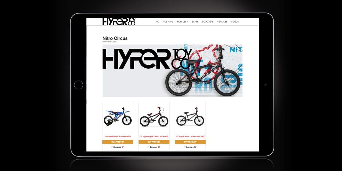 hyper toy co website tablet