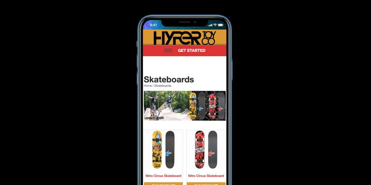 hyper toys skateboards mobile phone