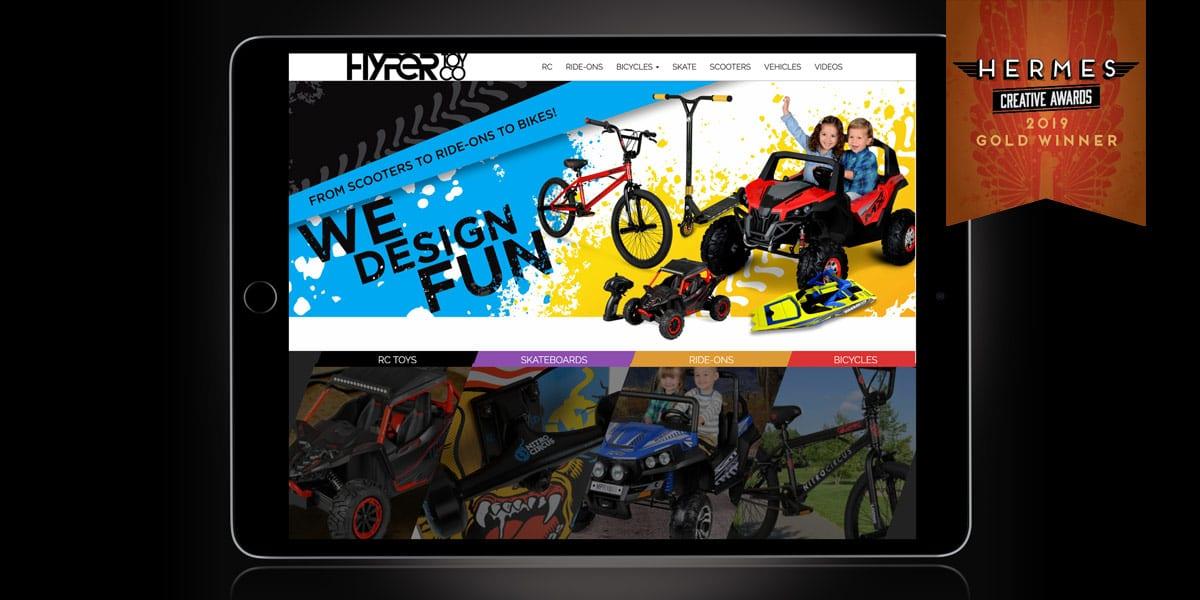 hyper toys website tablet landscape