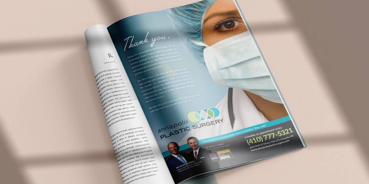 Annapolis Plastic Surgery Covid Ad