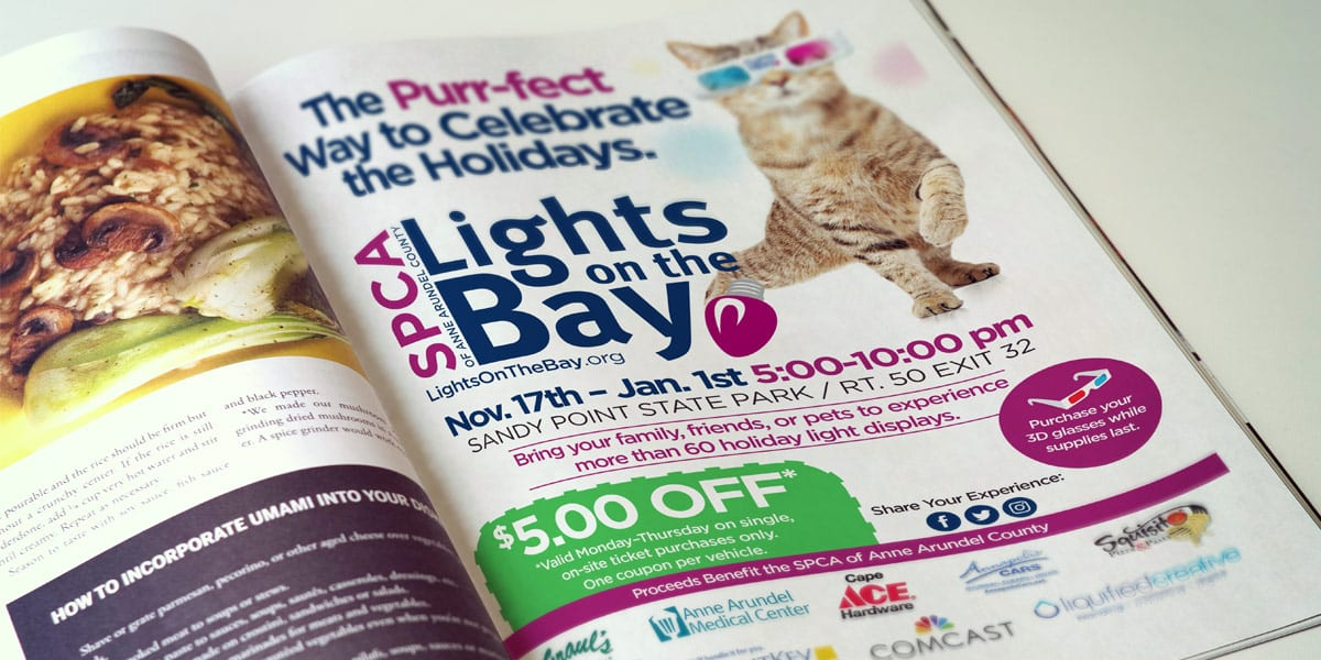 anne arundel county spca lights on the bay ad