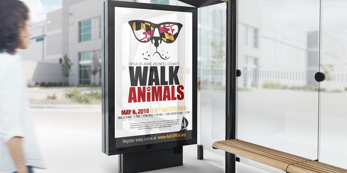 anne arundel county spca walk for the animals bus ad