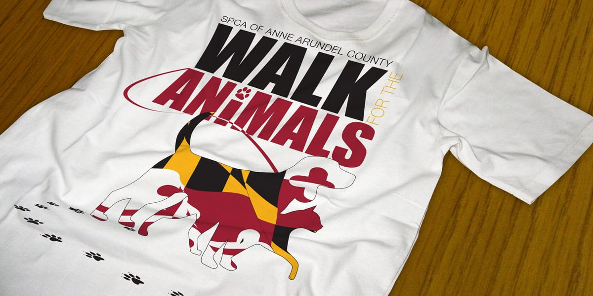 anne arundel county spca walk for the animals tshirt